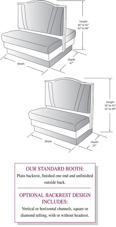 Rendering Of Booth With Crumb Catcher