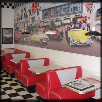 Fifties Diner Booths; Rochester, New York